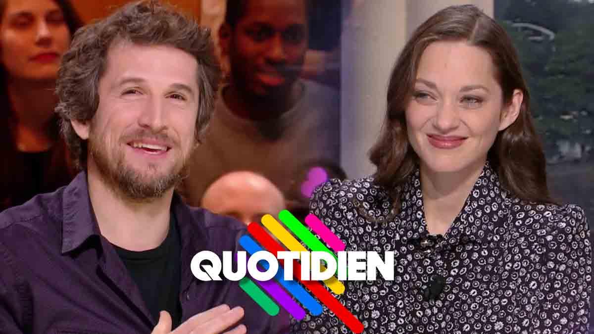La belle déclaration d'amour de Marion Cotillard à Guillaume Canet en direct de Quotidien