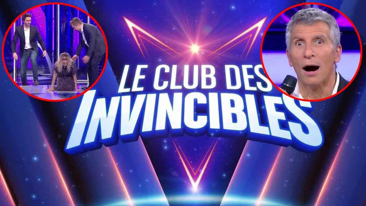 Le Club des invincibles : Mélanie Page victime d'une sacrée chute, Nagui s'en moque !
