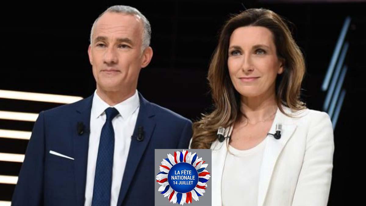 """14 juillet : Anne-Claire Coudray et Gilles Bouleau témoins """"d'une scène de ménage"""" qu'ils ne sont pas près d'oublier !"""
