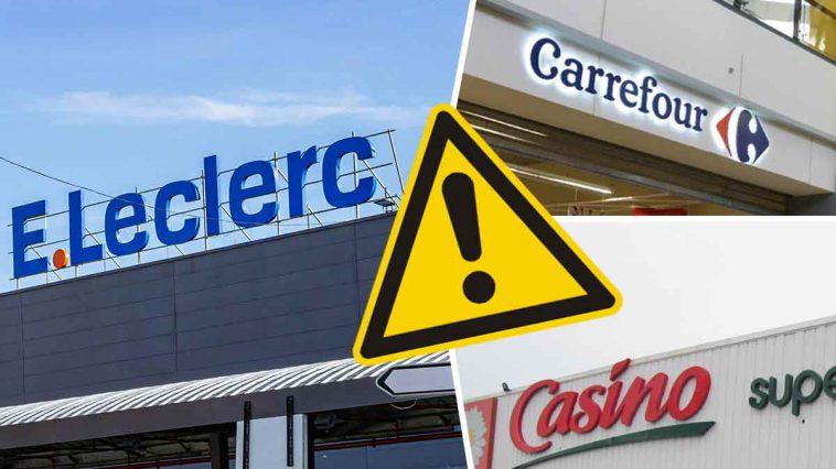 Carrefour, Casino, Leader Price et Leclerc rappellent ces produits contaminés, très dangereux pour la santé !