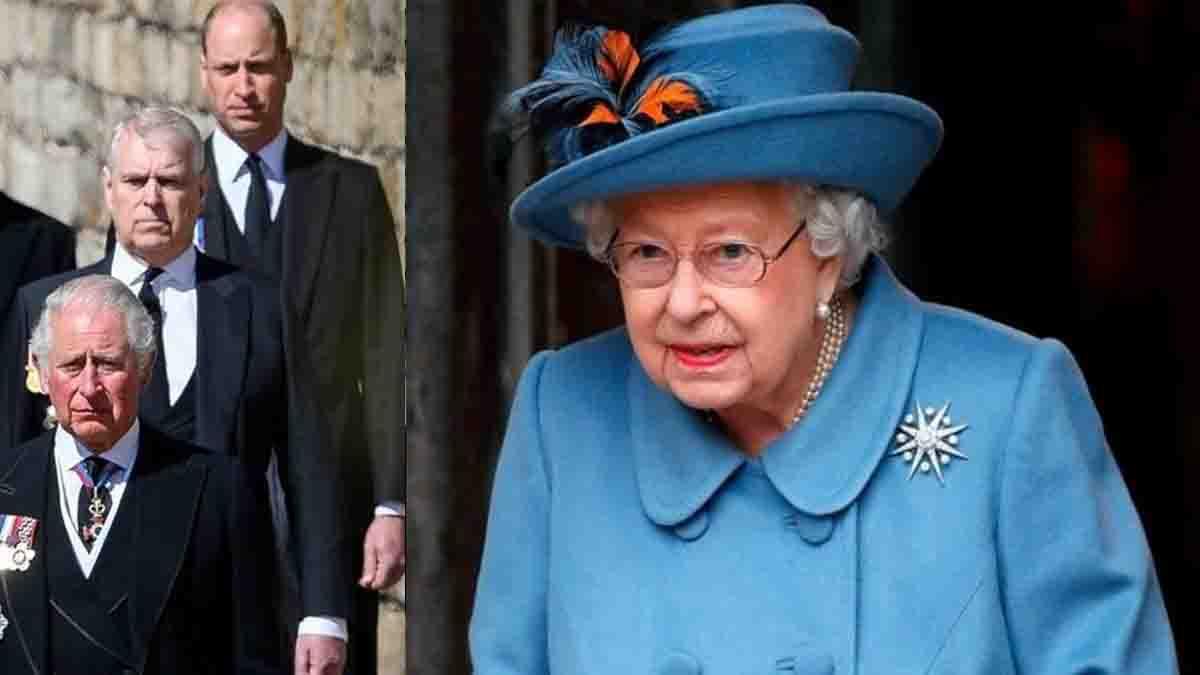 La reine Elisabeth II terrassée par le prince Andrew, les princes Charles et William préoccupés