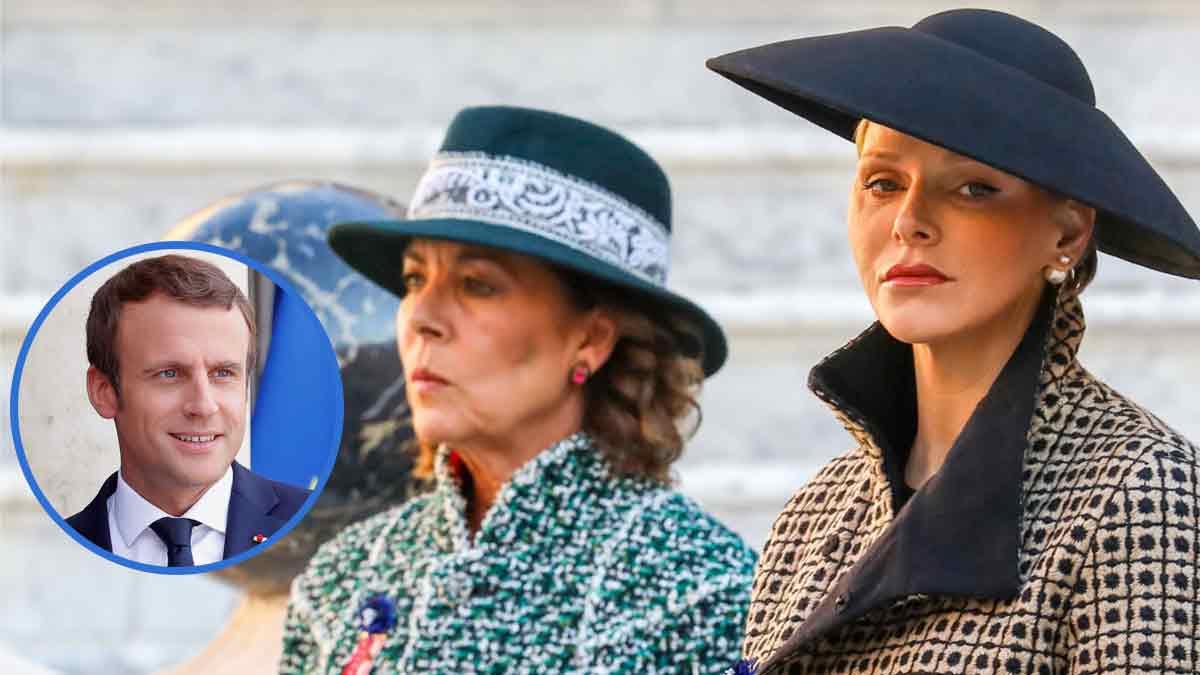 Caroline et Charlène de Monaco la guerre est terminée grâce à Emmanuel Macron