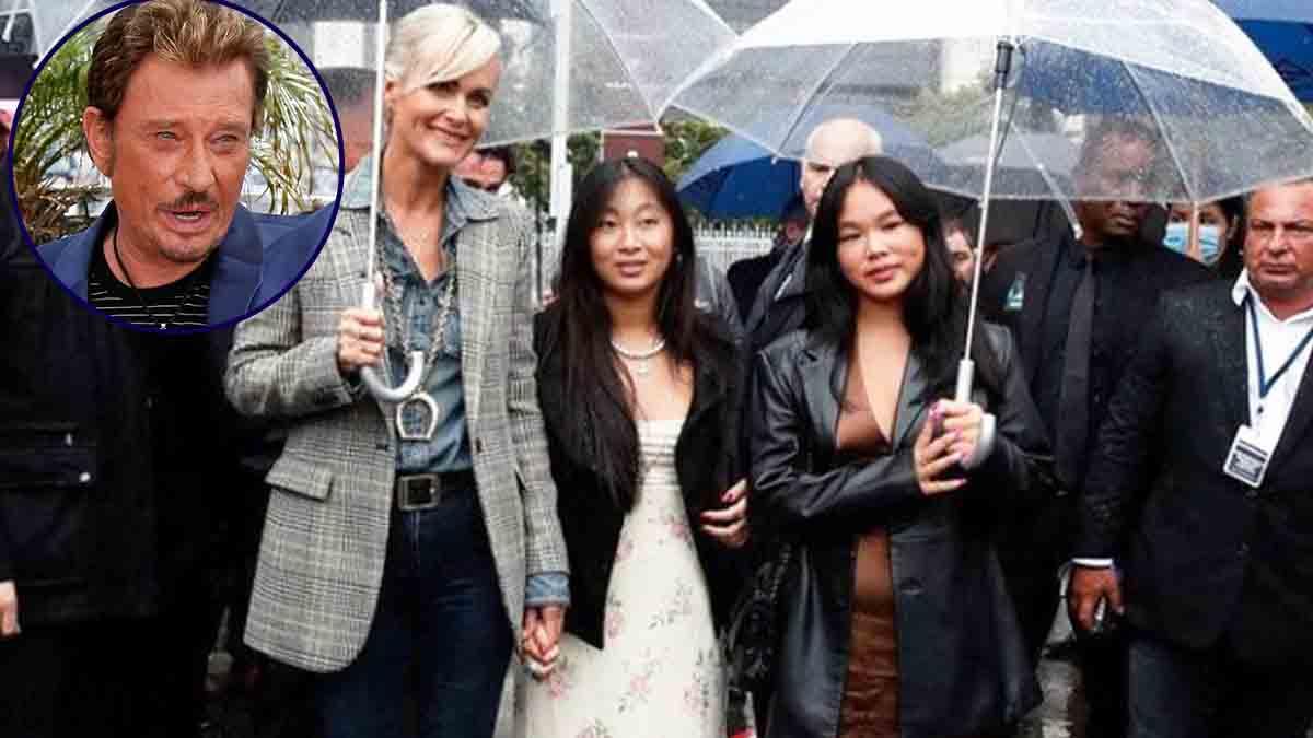 Laeticia Hallyday et ses filles Jade et Joy brisées par la disparition de Johnny
