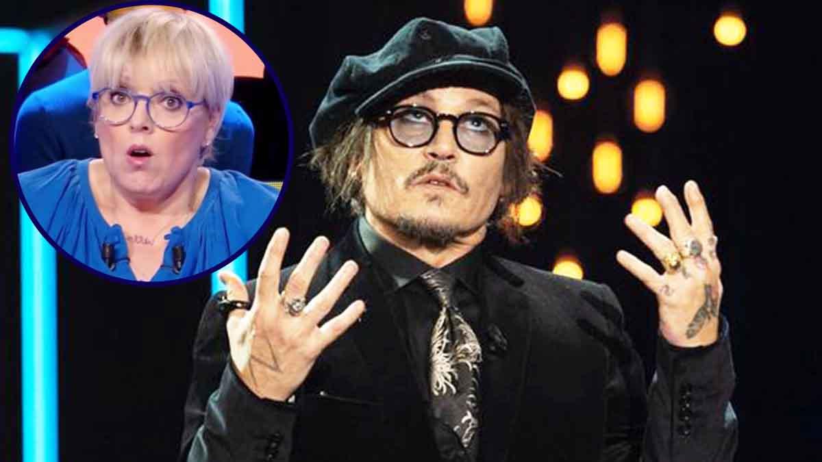 Laurence Boccolini son message réconfortant à Johnny Depp qui est au fond du seau